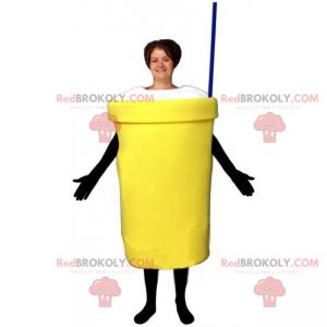 Milkshake mascot with straw - Redbrokoly.com