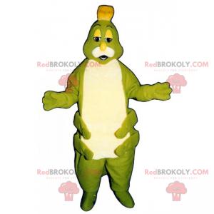 Tusenbein maskot grønn og hvit mage - Redbrokoly.com