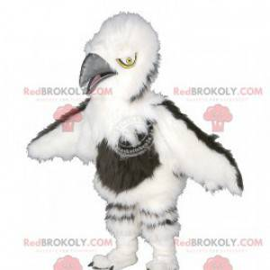 Hairy white and brown vulture mascot - Redbrokoly.com