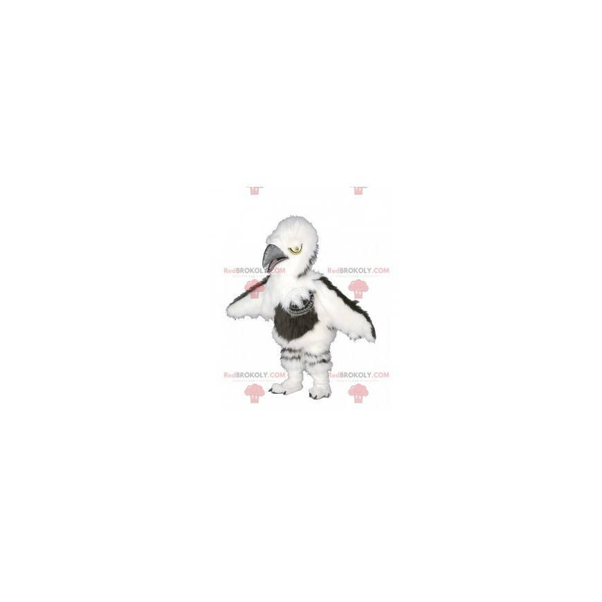 Chlupatý bílý a hnědý sup maskot - Redbrokoly.com