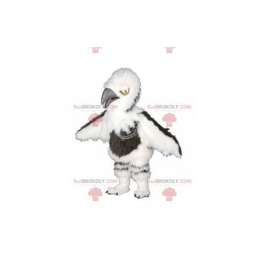 Haariges weißes und braunes Geiermaskottchen - Redbrokoly.com