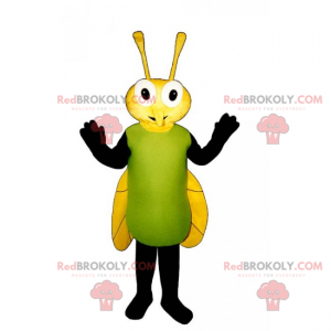 Fly mascot with yellow wings - Redbrokoly.com