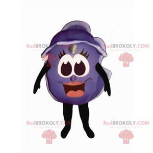 Blueberry mascot with smiling face - Redbrokoly.com
