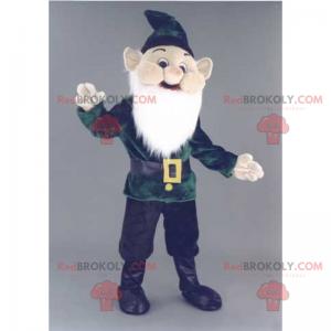 Hagegnome maskot med langt skjegg - Redbrokoly.com
