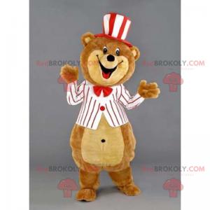 Teddybär Maskottchen mit Hut und Jacke - Redbrokoly.com