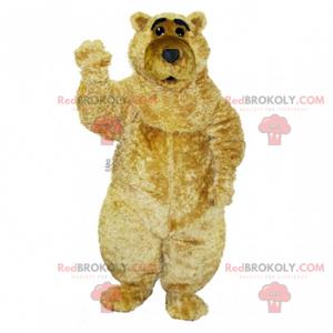Béžový a měkký medvídek maskot - Redbrokoly.com