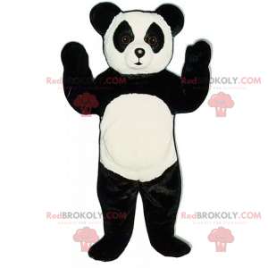 Panda-Maskottchen mit großen neugierigen Augen - Redbrokoly.com