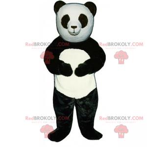 Panda mascot with black eyes - Redbrokoly.com