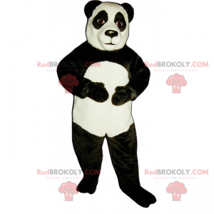 Klassisches Panda-Maskottchen - Redbrokoly.com