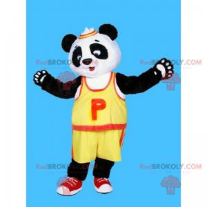 Panda-Maskottchen im Basketball-Outfit - Redbrokoly.com