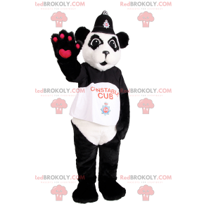 Panda mascot dressed as a policeman - Redbrokoly.com