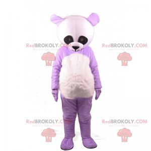 Maskot fialová panda - Redbrokoly.com