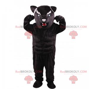 Aggressives Panther-Maskottchen - Redbrokoly.com