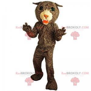 Grünäugiges Panther-Maskottchen - Redbrokoly.com