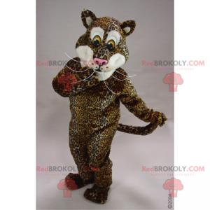 Panther-Maskottchen mit langen Schnurrbärten - Redbrokoly.com