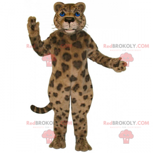 Panther Maskottchen mit blauen Augen - Redbrokoly.com
