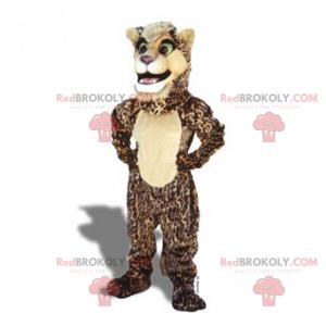Béžový a hnědý panter maskot - Redbrokoly.com