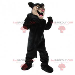 Černý panter maskot s béžovou tváří - Redbrokoly.com