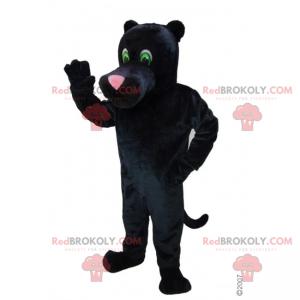 Maskot černý panter s růžovým nosem - Redbrokoly.com