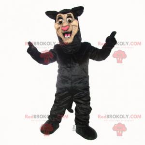 Lächelndes schwarzes Panthermaskottchen - Redbrokoly.com