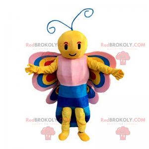 Mascote de borboleta sorridente - Redbrokoly.com