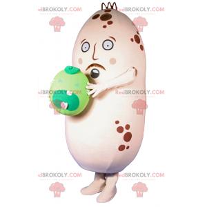Kartoffelmaskottchen mit weinenden Erbsen - Redbrokoly.com