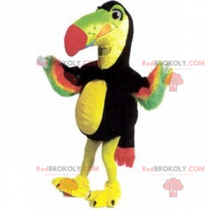Mascota del loro con plumaje multicolor - Redbrokoly.com