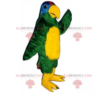 Gul-bug papegøje maskot - Redbrokoly.com