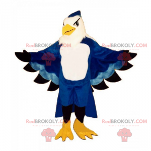 Majestueuze blauwe papegaai mascotte - Redbrokoly.com