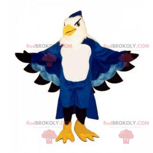 Mascote papagaio azul majestoso - Redbrokoly.com
