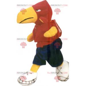Maskot papouška ve sportovním oblečení - Redbrokoly.com