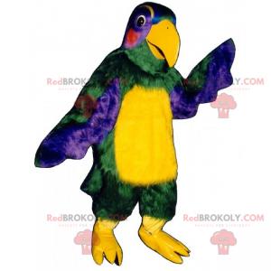 Mascote papagaio multicolorido - Redbrokoly.com
