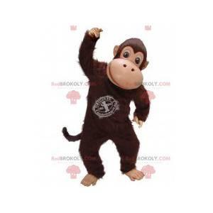 Hnědý maskot opice šimpanz - Redbrokoly.com