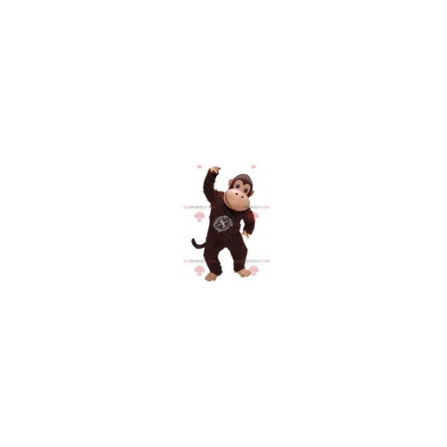 Brun sjimpanse ape maskot - Redbrokoly.com