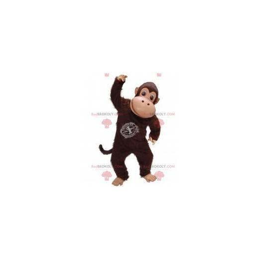 Brown chimpanzee monkey mascot - Redbrokoly.com