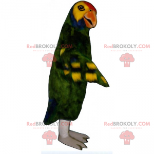 Green parrot mascot - Redbrokoly.com