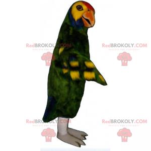 Mascotte del pappagallo verde - Redbrokoly.com