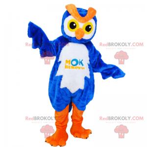Maskot postavy - rozkošná modrá sova - Redbrokoly.com