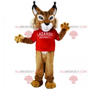 Character mascot - Lynx with sweatshirt - Redbrokoly.com