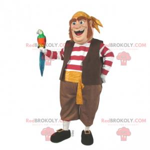 Mascote do personagem - marinheiro de navio pirata -