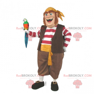 Mascotte personaggio - marinaio nave pirata - Redbrokoly.com