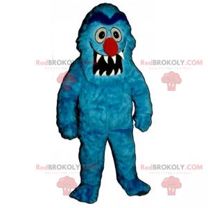 Karaktermaskot - Blå monster - Redbrokoly.com