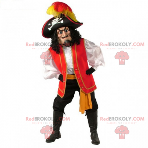 Mascota de personaje - Pirata - Redbrokoly.com