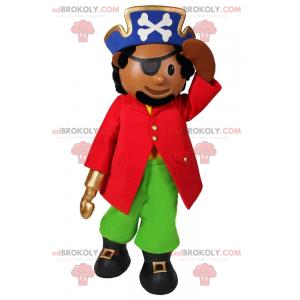 Karaktermaskot - Pirat med krog - Redbrokoly.com