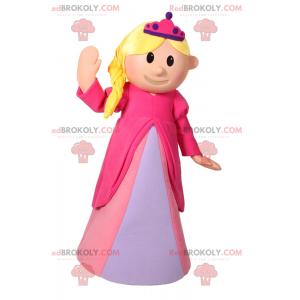 Maskot postavy - princezna v růžových šatech - Redbrokoly.com