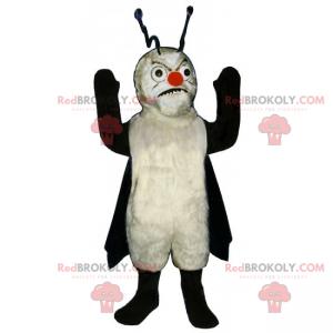 Wütendes Insektenmaskottchen mit Umhang und Antennen -