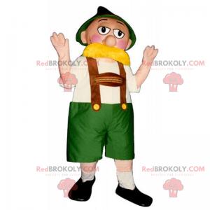 Maskot charakteru Oktoberfest - Redbrokoly.com
