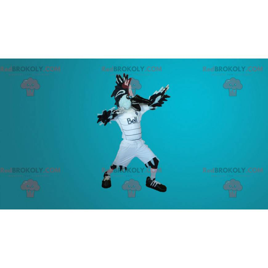 Velký majestátní černobílý pták maskot - Redbrokoly.com