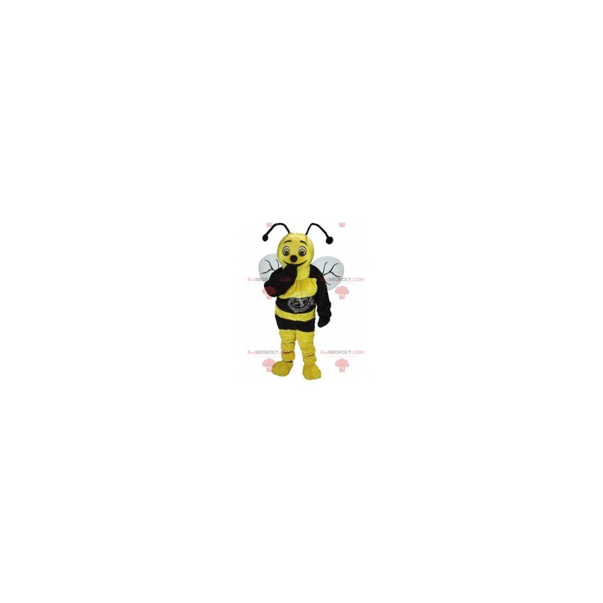 Yellow and black bee mascot - Redbrokoly.com