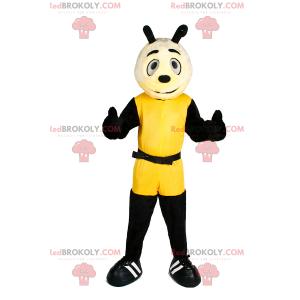 Maskot znaků ve žluté kombi - Redbrokoly.com